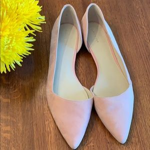 Cole Haan Pink Dorsay Flats, Suede, Size 12